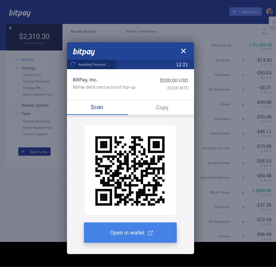 Introducing The Bitpay Visa Card -