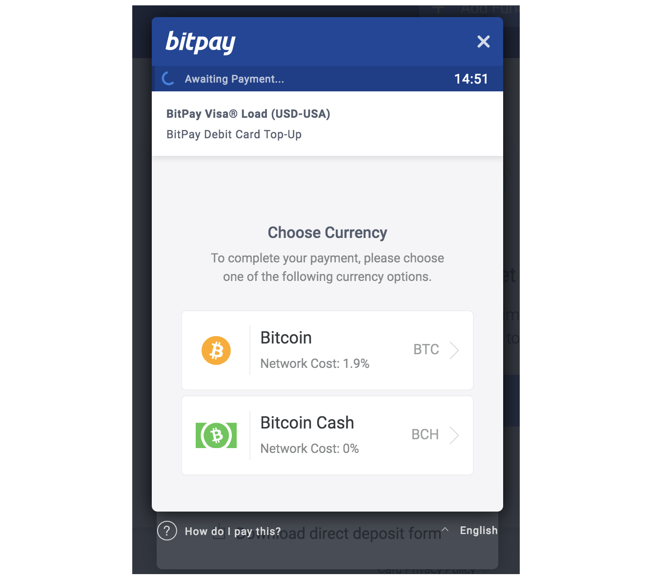 bitpay card image