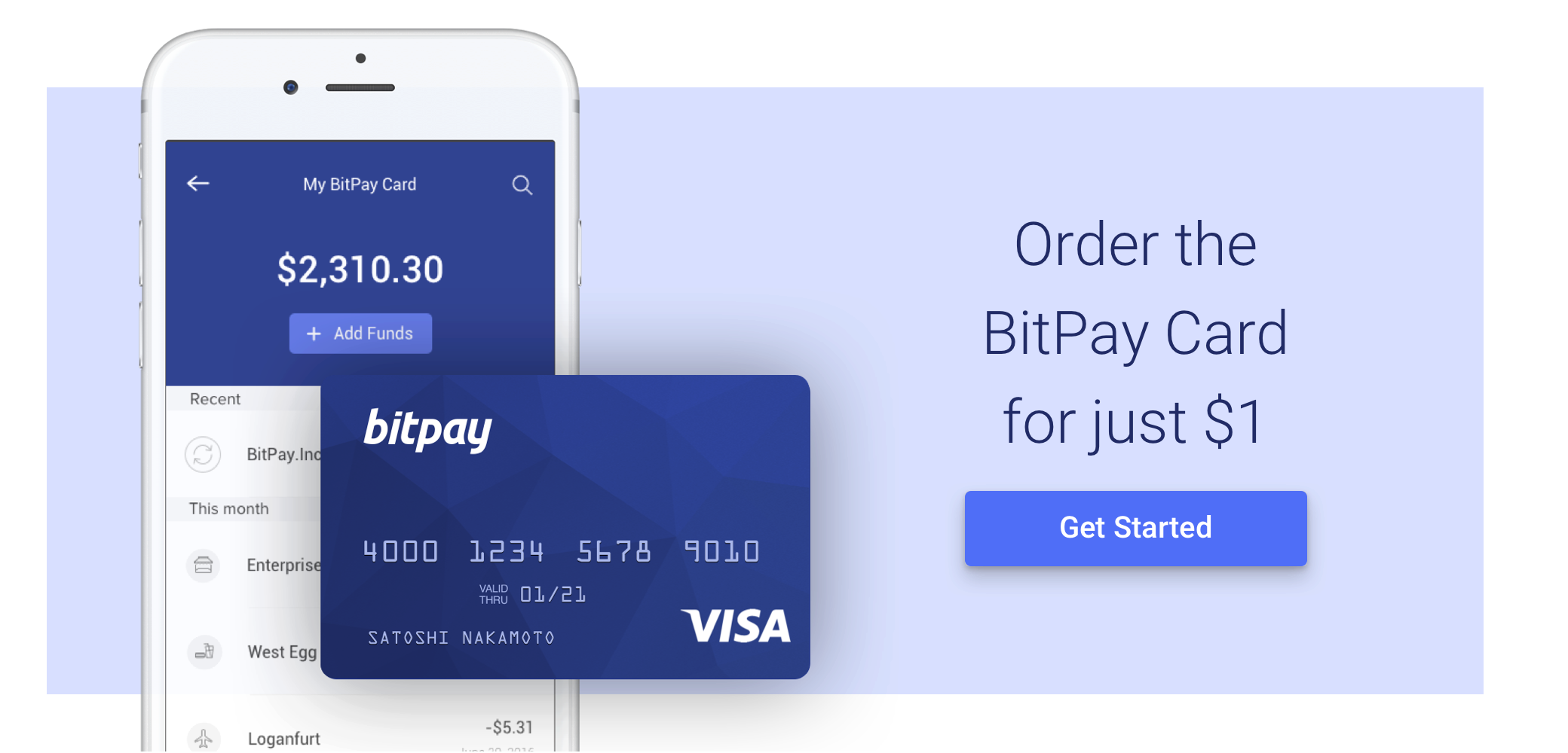 Limited Time: Get the BitPay Card for Just $1