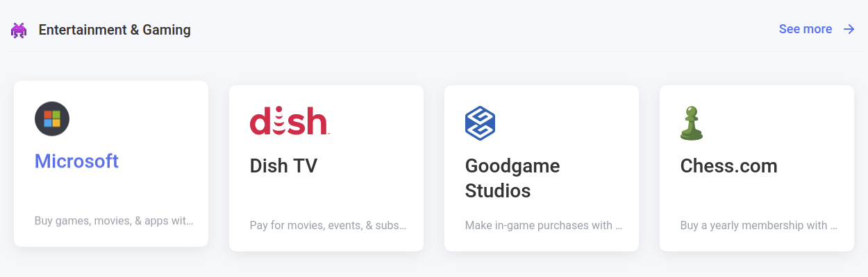 pay for your gaming and entertainment with crypto