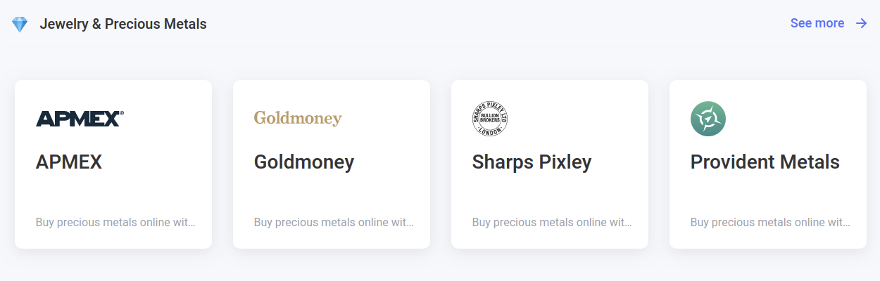 shop for jewelry and precious metals with your bitcoin