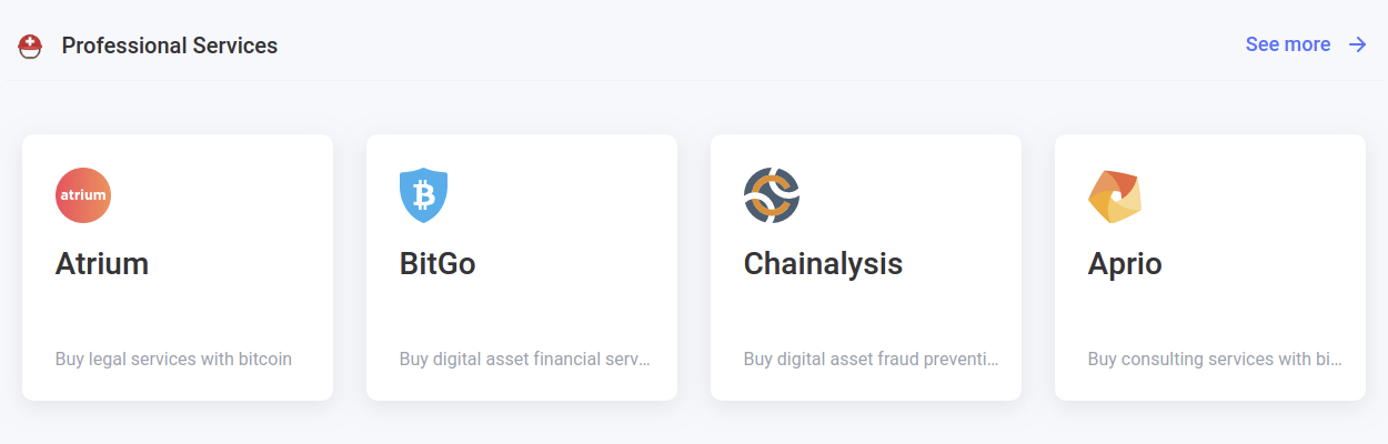 Pay for professional services for your blockchain business with your crypto