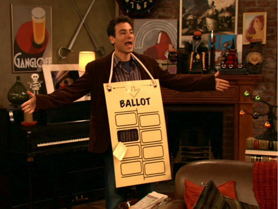 hanging chad from How I Met Your Mother