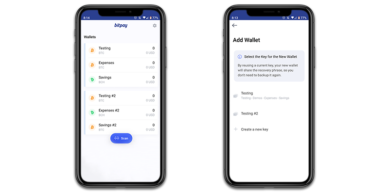 BitPay Wallet App Now Allows a Single Private Key for Multiple Wallets