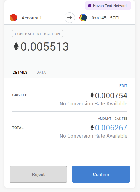 Image of gas fees
