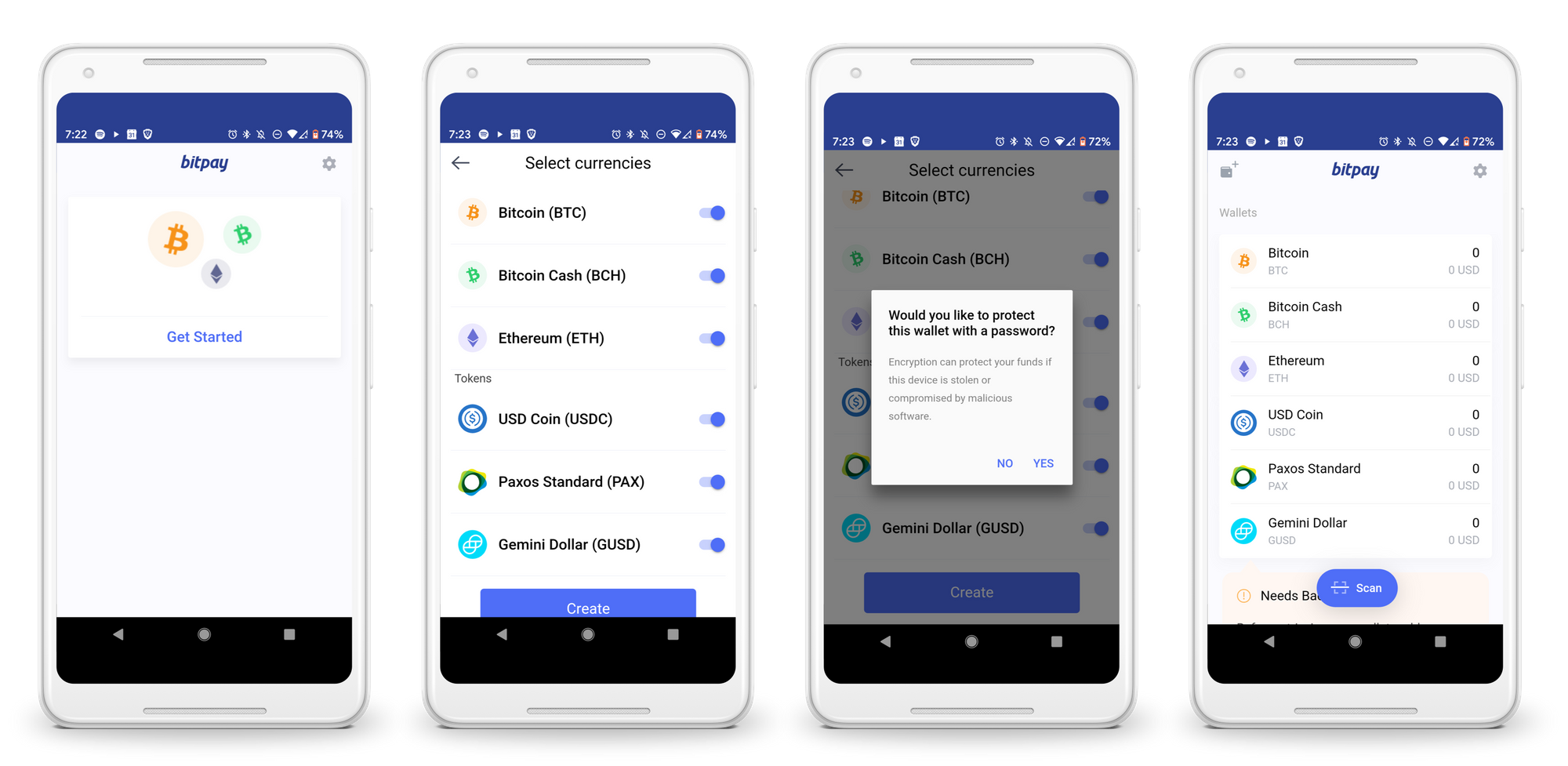 Stablecoins in the BitPay App
