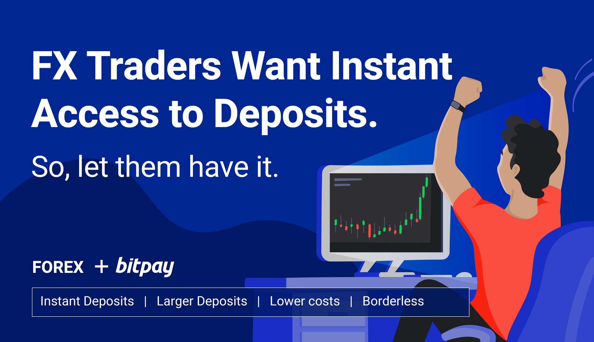 Online trader illustration