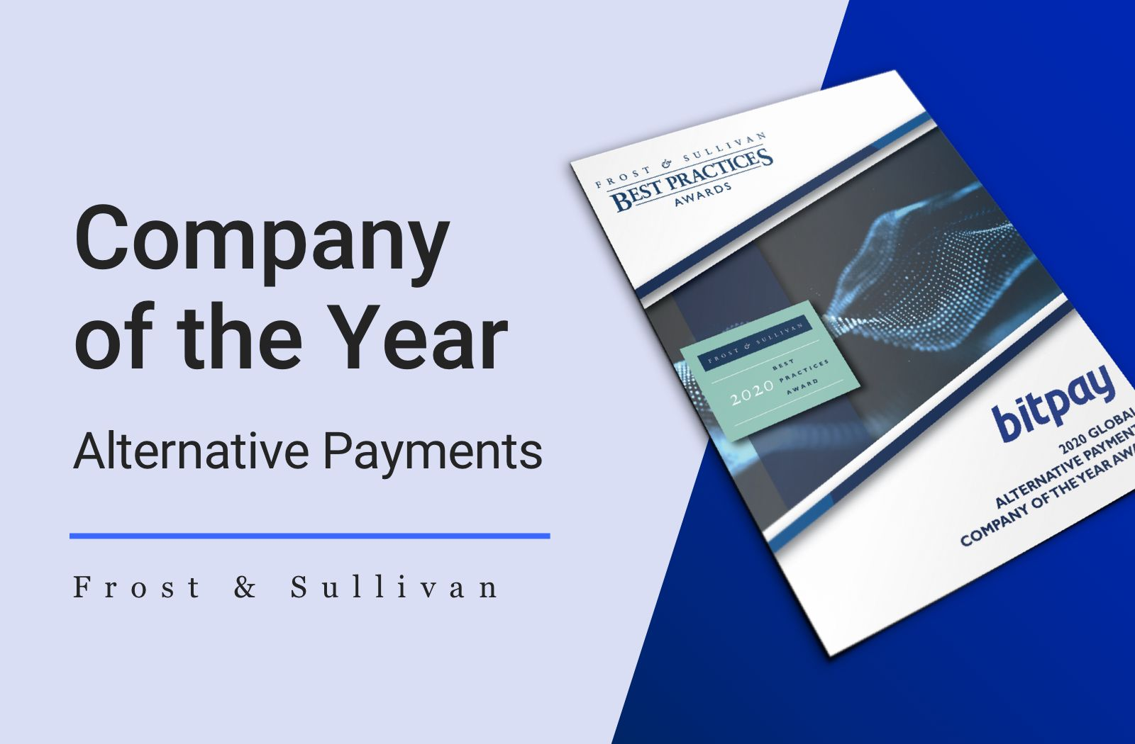 Frost & Sullivan Names BitPay as Company of the Year