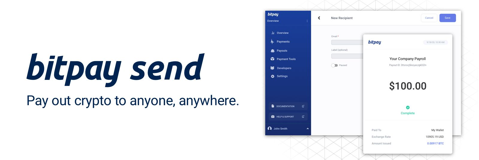 BitPay Send Product Banner