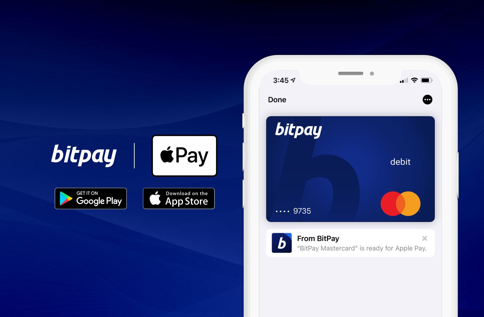 The BitPay Prepaid Mastercard® Supports Apple Pay®