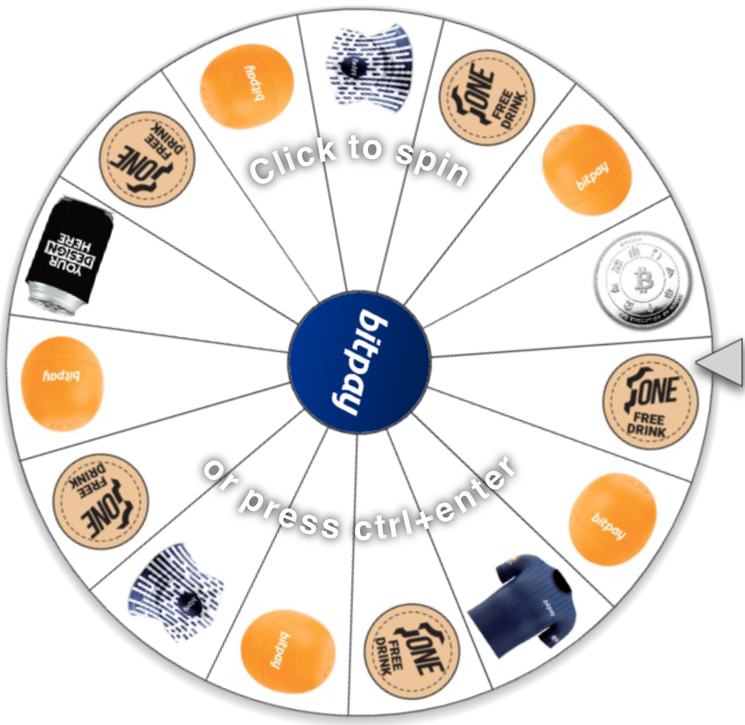 Conference Wheel Spinner for Prizes